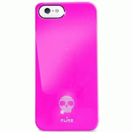 Puro Skull Cover накладка для Apple iPhone 5 Pink