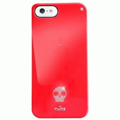 Puro Skull Cover накладка для Apple iPhone 5 Red