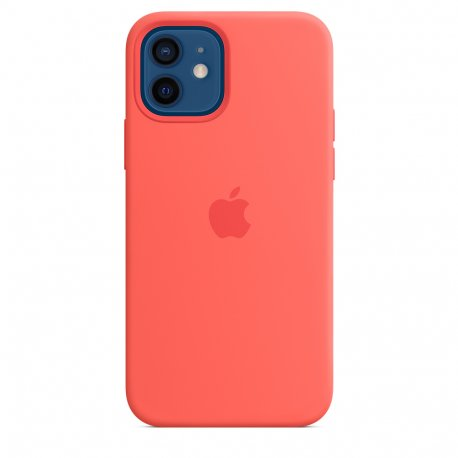 Чехол Apple iPhone 12/12 Pro Silicone Case with MagSafe Pink Citrus (MHL03)