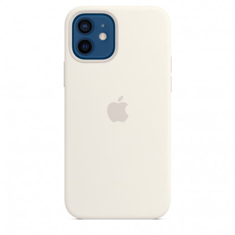Чехол Apple iPhone 12/12 Pro Silicone Case with MagSafe White (MHL53)