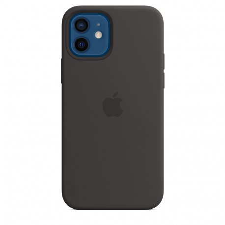 Чехол Apple iPhone 12/12 Pro Silicone Case with MagSafe Black (MHL73)