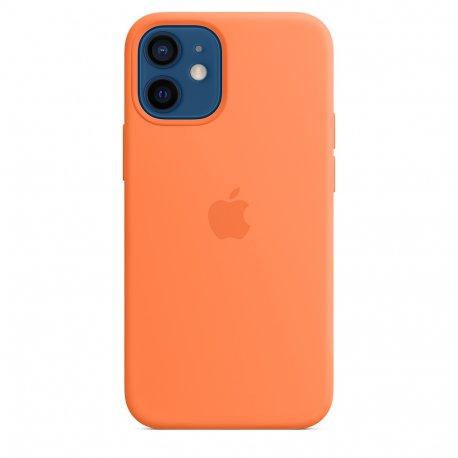 Чехол Apple iPhone 12 Mini Silicone Case with MagSafe Kumquat (MHKN3)
