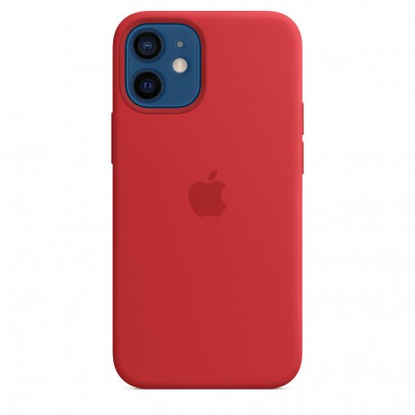 Чехол Apple iPhone 12 Mini Silicone Case with MagSafe (Product) Red (MHKW3)