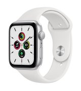Apple Watch SE 44mm (GPS) Silver Aluminum Case with White Sport Band (MYDQ2UL/A)