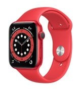 Apple Watch Series 6 44mm (GPS) Red Aluminum Case with (Product)Red Sport Band (M00M3)