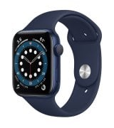 Apple Watch Series 6 44mm (GPS) Blue Aluminum Case with Deep Navy Sport Band (M00J3)