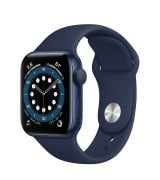 Apple Watch Series 6 40mm (GPS) Blue Aluminum Case with Deep Navy Sport Band (MG143)
