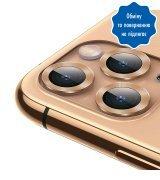Защитное стекло на камеру Totu для Apple IPhone 11 Pro/Pro Max Gold