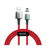 Кабель Baseus Zinc Magnetic Cable Lightning USB для iPhone 2.4A 1m Red (CALXC-A09)