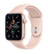 Apple Watch SE 44mm (GPS) Gold Aluminum Case with Pink Sand Sport Band (MYDR2UL/A)