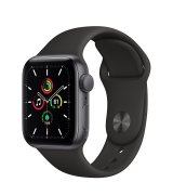 Apple Watch SE 40mm (GPS) Space Gray Aluminum Case with Black Sport Band (MYDP2UL/A)