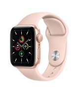 Apple Watch SE 40mm (GPS) Gold Aluminum Case with Pink Sand Sport Band (MYDN2UL/A)