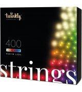 Умная LED Гирлянда Twinkly Strings RGBW 400, BT+WiFi, Gen II, IP44, длина 32м, кабель черный (TWS400SPP-BEU)