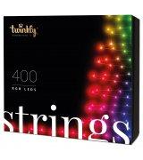 Умная LED Гирлянда Twinkly Strings RGB 400, BT+WiFi, Gen II, IP44, длина 32м, кабель черный (TWS400STP-BEU)
