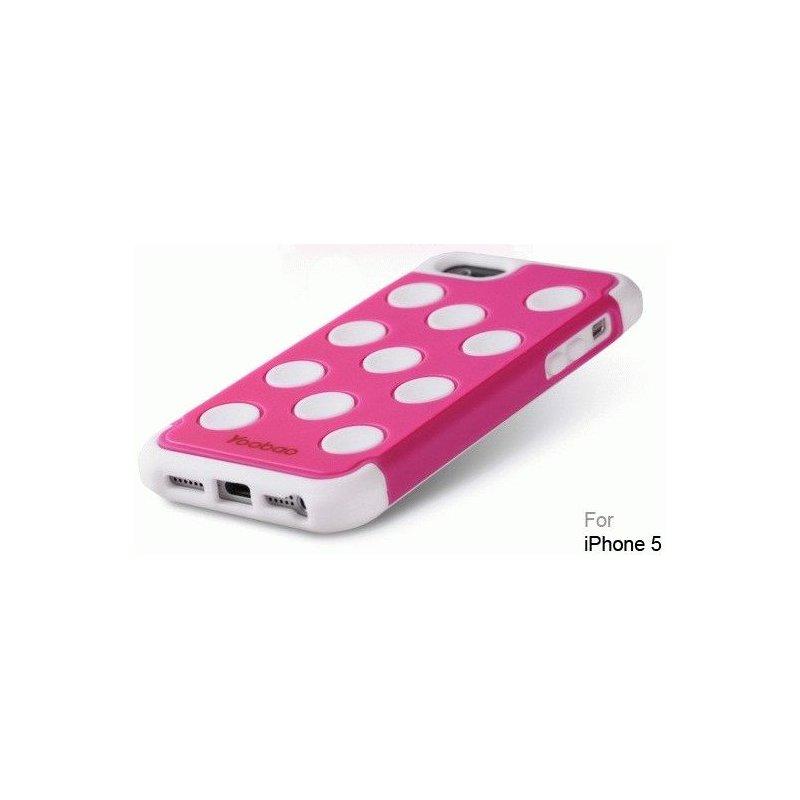 Yoobao накладка Silicon 3 in 1 Case для iPhone 5 White - Pink