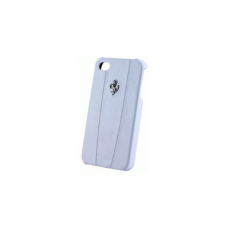 CG Ferrari Hard Modena кожаная накладка для iPhone 4/4S White