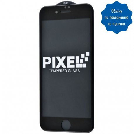 Защ.стекло Pixel Full Screen Iph7/8 Black