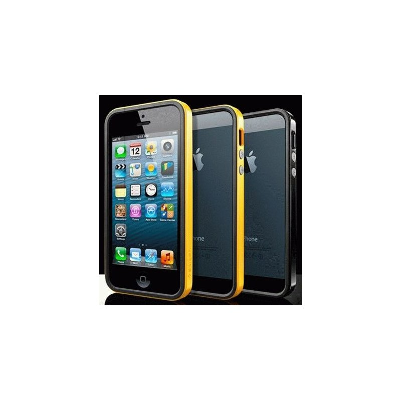 Бампер для iPhone 5 SGP Case Neo Hybrid EX Vivid Reventon Yellow (SGP09518)