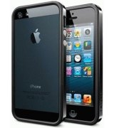 Бампер для iPhone 5 SGP Case Neo Hybrid EX Vivid Soul Black (SGP09520)
