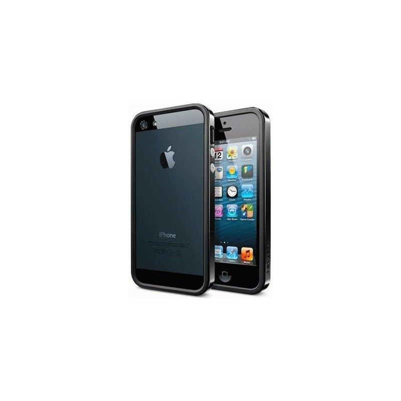 Бампер для iPhone 5 SGP Case Neo Hybrid EX Vivid Soul Black (SGP09520)