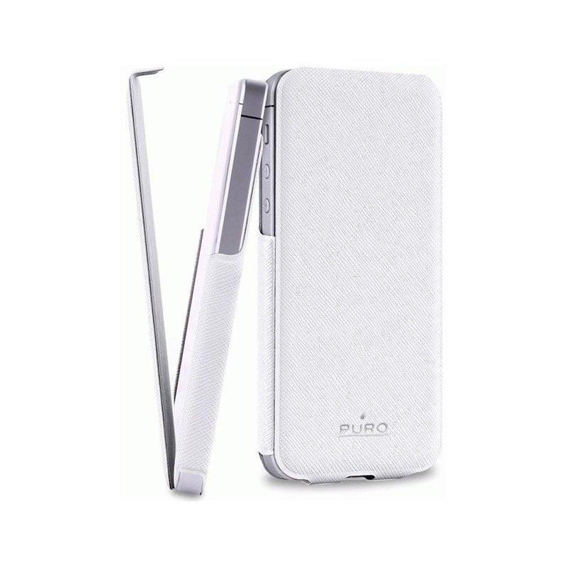 Чехол Puro Flipper Ultra Slim Case для Apple iPhone 5 White