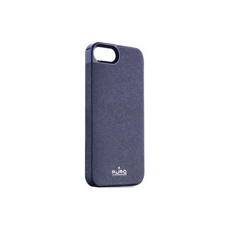 Puro eco-leather cover накладка для Apple iPhone 5 Blue