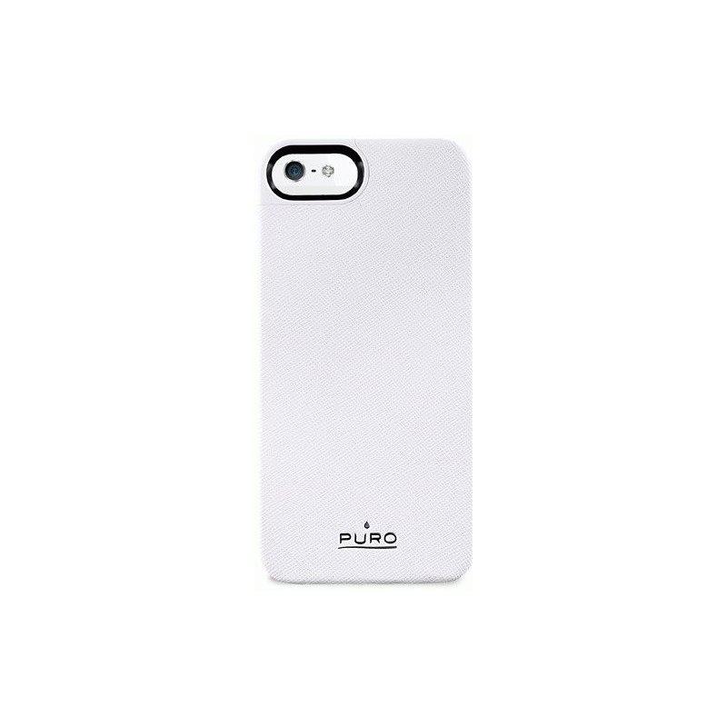 Puro Eco-leather cover накладка для Apple iPhone 5 White