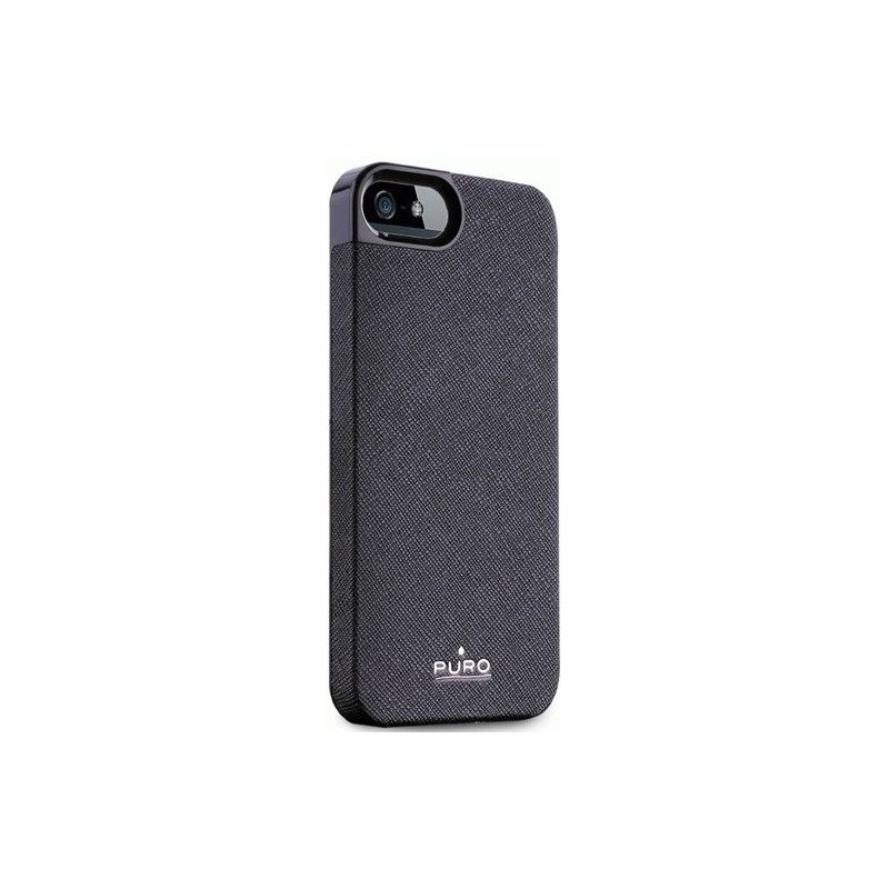 Puro Eco-leather cover накладка для Apple iPhone 5 Black
