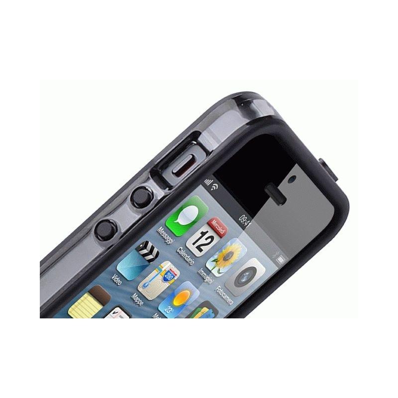 Бампер для iPhone 5 Puro Bumper Frame Black