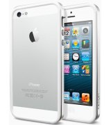 Бампер для iPhone 5 SGP Case Neo Hybrid EX Snow Satin Silver (SGP09519)