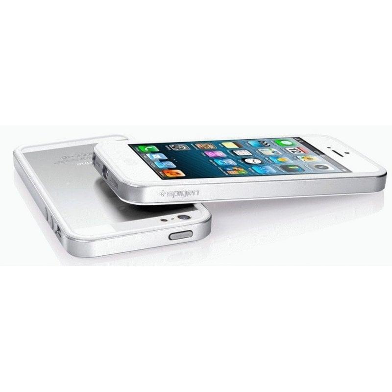 Бампер для iPhone 5 SGP Case Neo Hybrid EX Snow Satin Silver (SGP09519)