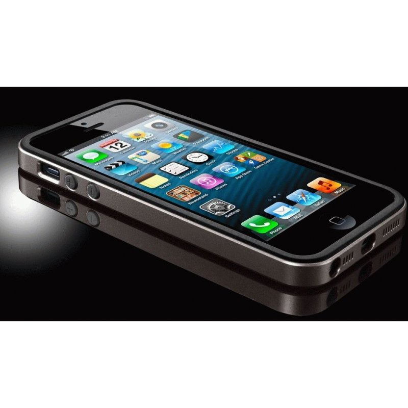 Бампер для iPhone 5 SGP Case Neo Hybrid EX Slim Metal Gunmetal (SGP09657)