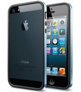 Бампер для iPhone 5 SGP Case Neo Hybrid EX Slim Metal Blue (SGP09656)