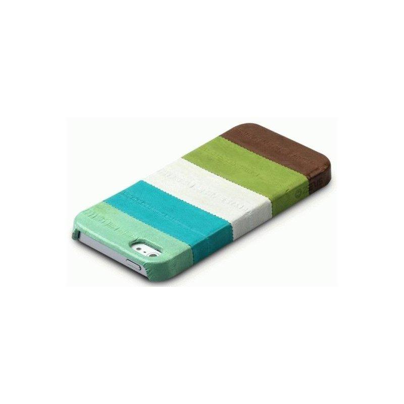 Кожаная накладка Zenus Eel Leather Bar для iPhone 5 Multi Green