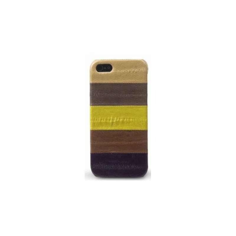 Кожаная накладка Zenus Eel Leather Bar для iPhone 5 Multi Brown