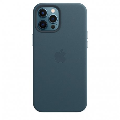 ple iPhone 12 Pro Max Leather Case with MagSafe Baltic Blue (MHKK3)
