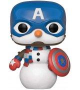 Коллекционная фигурка Funko POP! Marvel: Holiday: Capt America (43335)