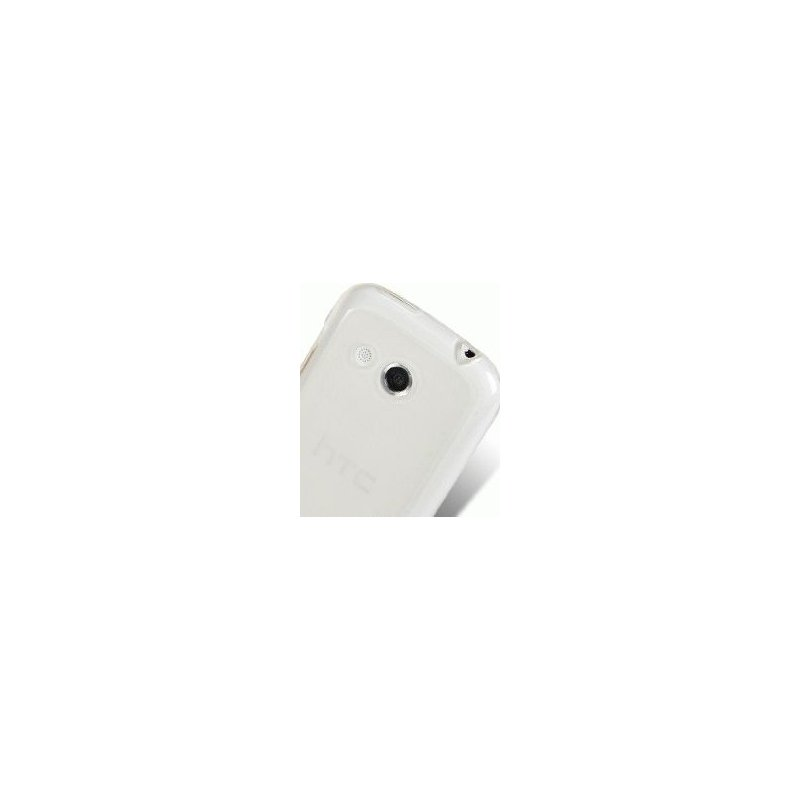 TPU накладка Melkco Poly Jacket для HTC A320e Desire C White