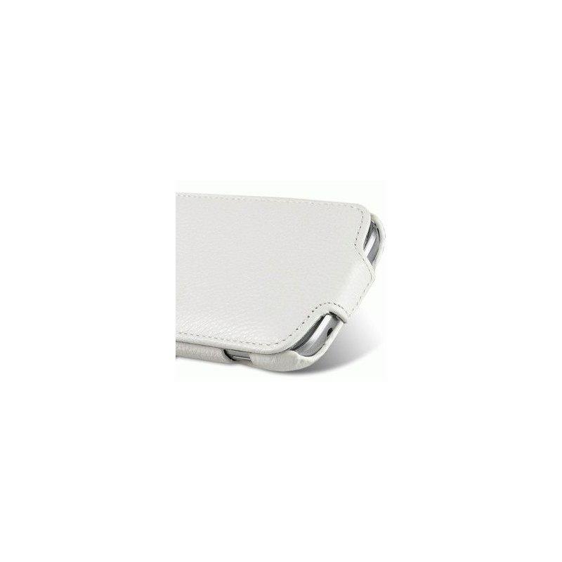 Кожаный чехол Melkco Flip (JT) для Samsung Galaxy S Duos S7562 White
