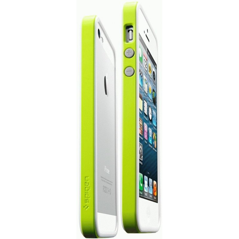 Бампер для iPhone 5 SGP Case Neo Hybrid EX Snow Lime (SGP09533)