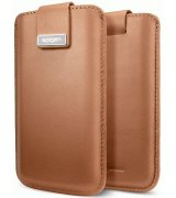Чехол для iPhone 5 Leather Pouch Crumena Vegetable Brown (09514)