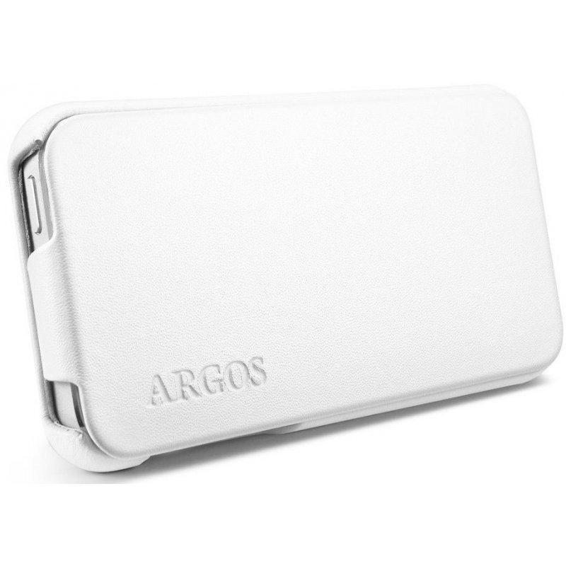 SGP iPhone 5 Leather Case Argos White