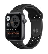Apple Watch SE 44mm (GPS) Space Gray Aluminum Case with Black Nike Sport Band (MYYK2UL/A)