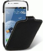 Кожаный чехол Melkco Flip (JT) для Samsung Galaxy S3 mini I8190 Black