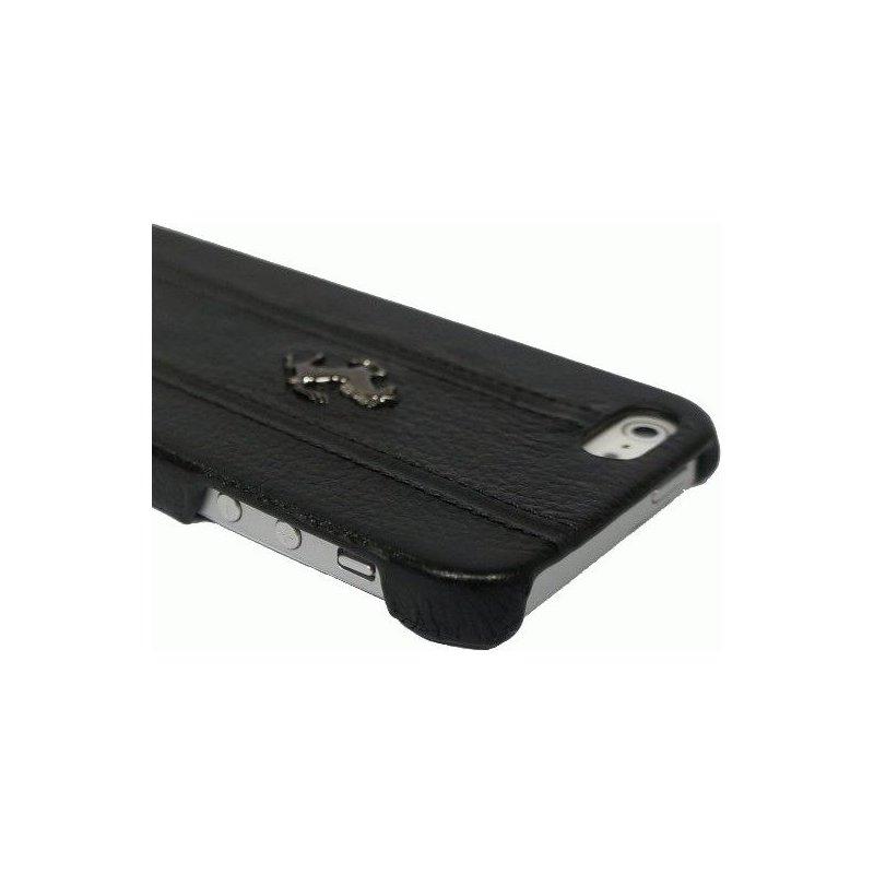 Ferrari Leather Hard Case FF Collection кожаная накладка для iPhone 5 (FEFFHCP5BL)