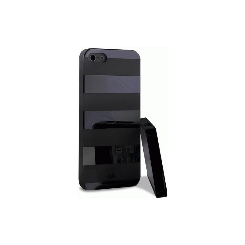 Puro Stripe Cover накладка для Apple iPhone 5 Black