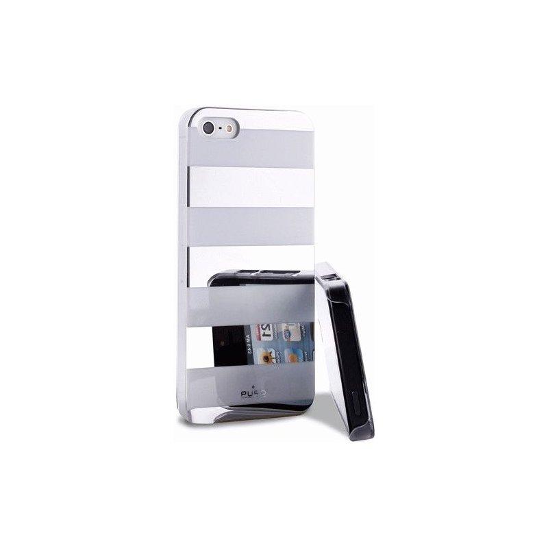 Puro Stripe Cover накладка для Apple iPhone 5 Silver