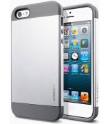 SGP iPhone 5 Case Slim Armor Satin Silver (SGP10090)