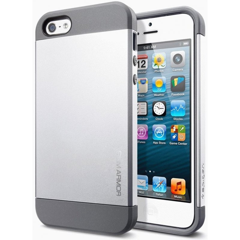 SGP iPhone 5 Case Slim Armor Satin Silver (SGP10090)