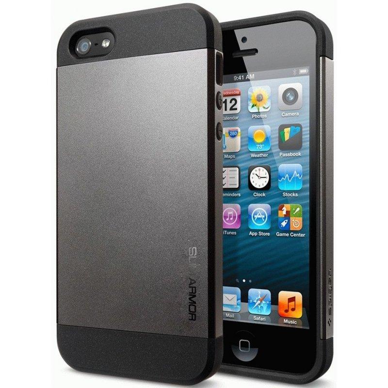 SGP iPhone 5 Case Slim Armor Gunmetal (SGP10089)